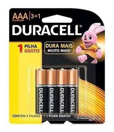 Kit 2 Pilha Alcalina Duracell Palito Aaa Embalagem Leve 4 Un