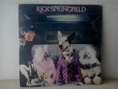 Lp Rick Springfield - Sucess Hasnt Spoiled Me Yet C/encarte
