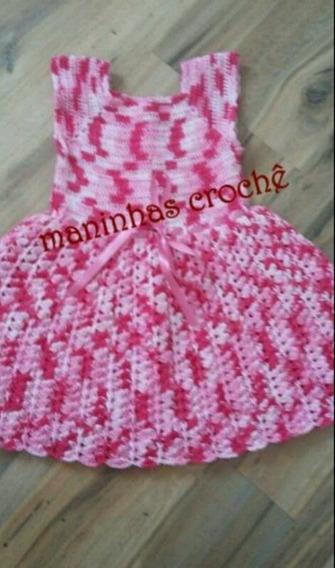 Vestido De Crochê Princesa Colorido