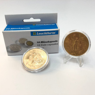 Cápsulas Para Moneda Centenario 37mm. Calidad Alemana