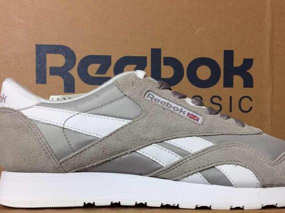 Tênis Reebok Classic Original Cl Nylon Cinza/branco