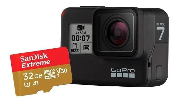 Câmera Gopro Hero 7 Black + Cartão 32gb Extreme