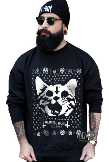 Ugly Sueter Sudadera Navideño Hombre - Hellcat Gato