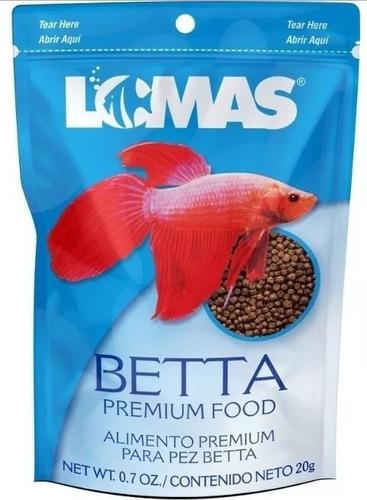Alimento Para Pez Betta 20g Acuario Lomas Premium Bolitas