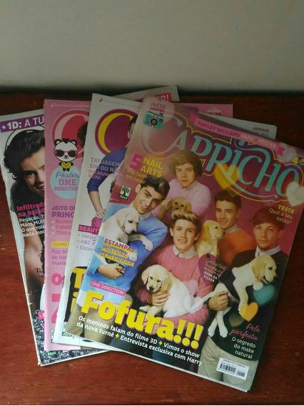 Kit Revistas Capricho One Direction N°1169, 1173, 1182, 1198