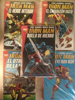 Ironman - Iron Man - Marvel Gold - Lote De 5 Tomos - Panini