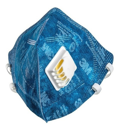 2 Máscara Azul 3m 9822 Pff2 Com Válvula N95 - C/ Nota Fiscal
