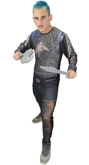 Roupa De Guerreiro Medieval Viking Infantil Ragnar Lothbrok