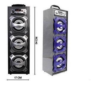 Parlante Portable Con Bluetooth Portatil 3 Bocinas Altavoces