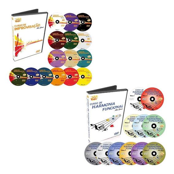 Coleção Curso De Improvisação + Harmonia Funcional- 26 Dvds
