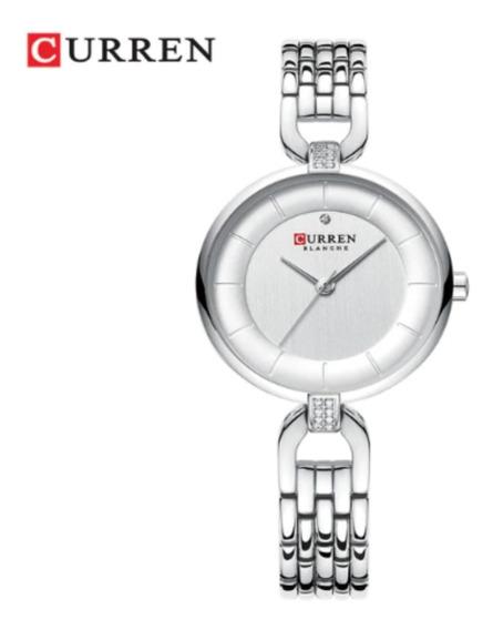 Relógio Feminino Curren 9052 Original Aço Inoxidável