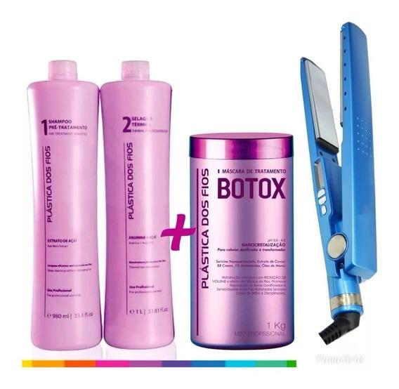 Combo Plástica Dos Fios Selagem Térmica + Botox + Prancha