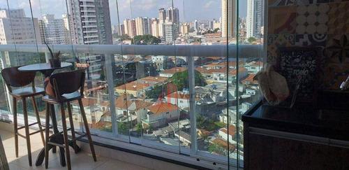 Imagem 1 de 18 de Apartamento Com 3 Dormitórios À Venda, 152 M² Por R$ 1.600.000,00 - Tatuapé - São Paulo/sp - Ap6486