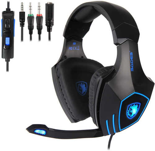 Audifonos Gaming Gamer Iluminacion Bajos Fuertes Ps4 Pc Cel