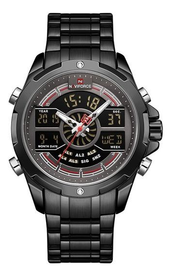 Relógio Masculino Esportivo Naviforce Digital Militar Top