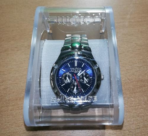 1b7b7e66d4cf Reloj Masculino Nautica Original Acero Inox Cristal Bombe