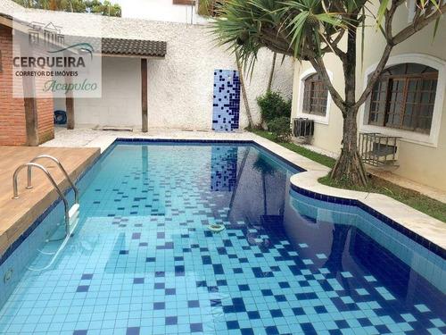 Imagem 1 de 30 de Casa Para Alugar, 380 M² Por R$ 4.500.000,00/mês - Enseada Guaruja - Guarujá/sp - Ca0522