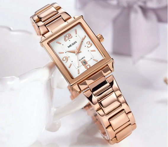 Relógio Feminino Analógico Modelo Megir 1079 Original