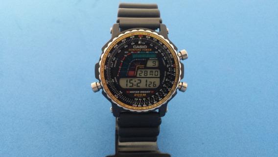 Relógio Casio Dw-403 Surfing Timer Igual Novo Japan Raridade