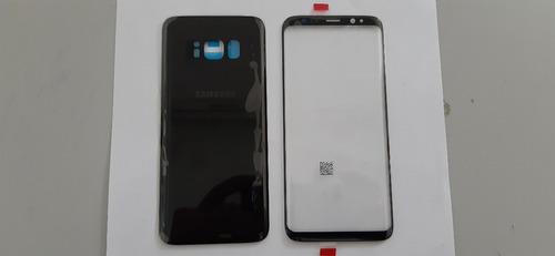 Tampa Traseira + Lente Frontal Galaxy S8 G950 Preta Nova
