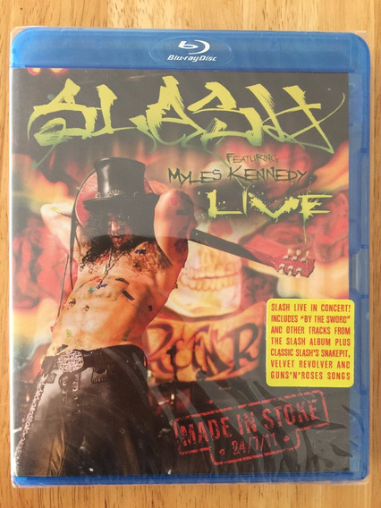 Blu-ray Slash Live Made In Stoke 24/7/11 - Lacrado Raridade!