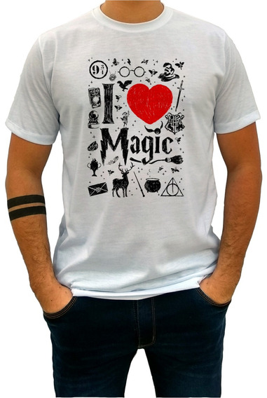 Camiseta Infantil Unissex Harry Potter Magias Love