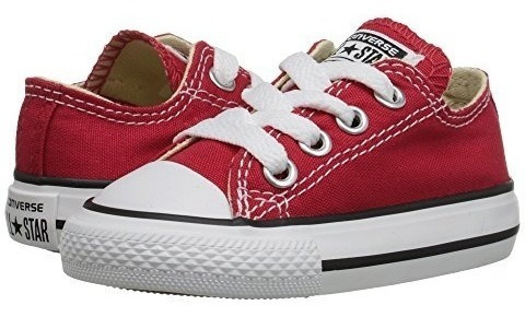 Converse Kids Chuck Taylor Core Ox Rojo Tenis Bebe Niña Niño