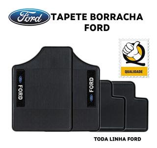 Tapete F1000 Cabine Dupla Ano 84 Borracha Logo Bordado Ford