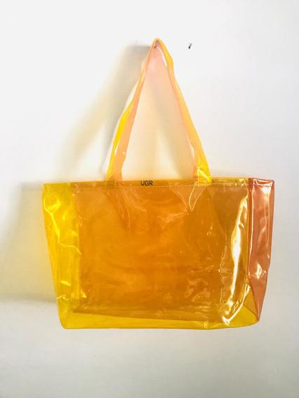 Bolso Tote Bag Playa Multicolor Pvc