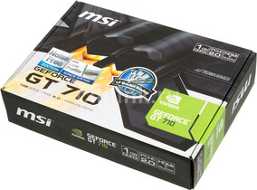 Tarjeta De Video Msi Geforce Gt 710 Nvidia 1gb Ddr5 Pci-e Hd
