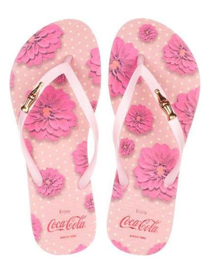Chinelo Coca Cola Feminina Flower Spirit Cc2672