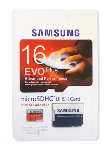 Imagen 1 de 1 de Tarjeta De Memoria Micro Sd  16 Gb Samsung - Evo Plus