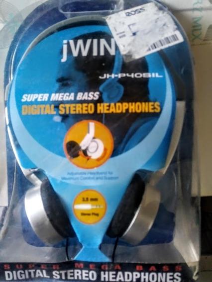 Fone De Ouvido Super Mega Bass Digital Stereo Jwin Jh-p40sil