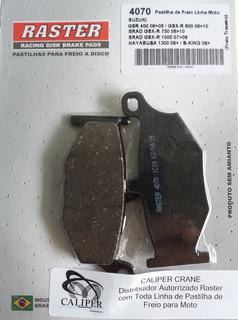 4070 Pastilha Freio Traseira Suzuki 600(gsr-gsxr), 750(gsx), 1000(gsx-dl V-strom), 1300(gsxr), 1340(gsxb-king)