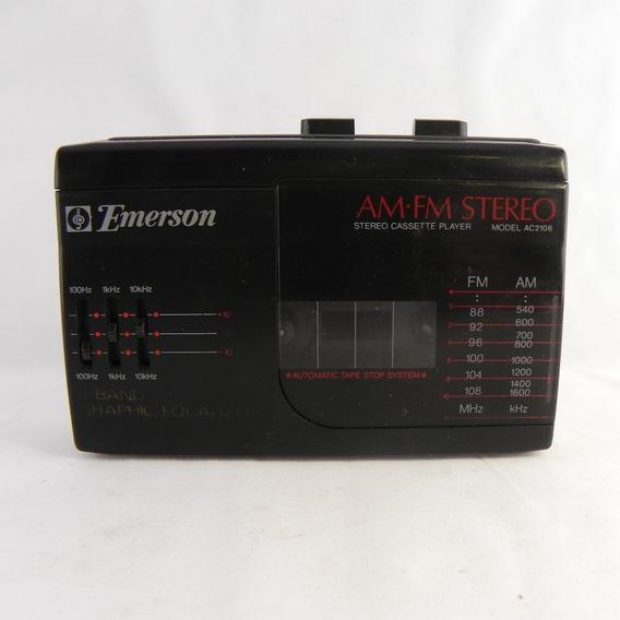 Rádio Am/fm Emerson Portátil Ac2106 Raro - Usado C/ Defeito