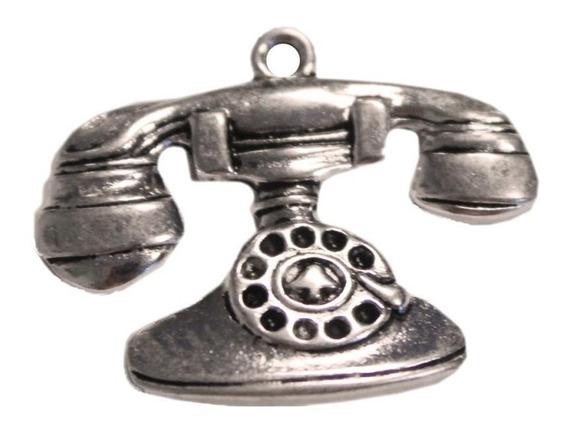 Lata De Dijes De Teléfono Antiguo 15 Unidades
