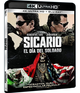 Blu Ray 4k Ultra Hd Sicário - Dia Do Soldado - Dub/ Leg. Lac