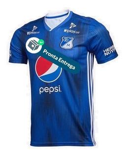 Camisa Millonarios 1º Unif. 19/20 - Pronta Entrega