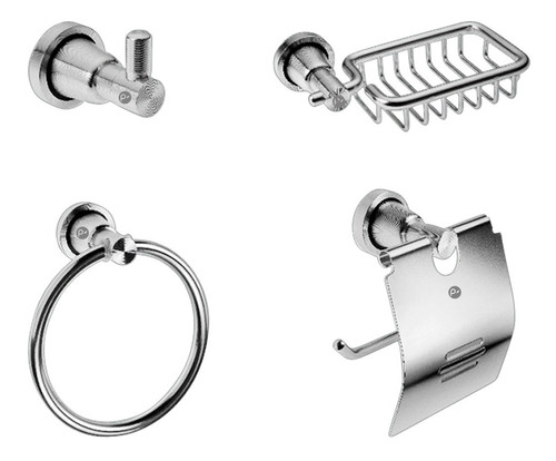 Kit De  Accesorios Para Baño En Aluminio 4 Piezas