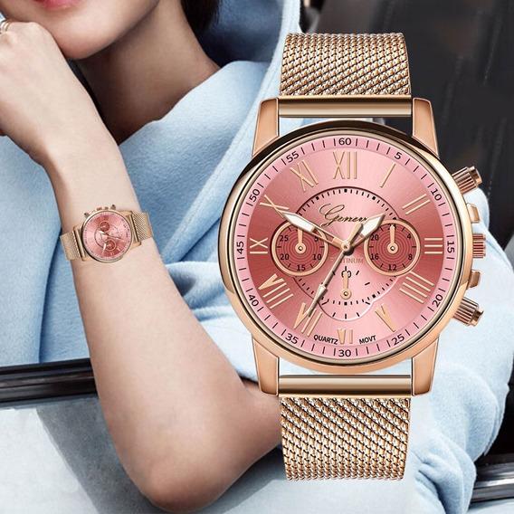 Relógio Bonito Barato Elegante Rosê Oferta Especial