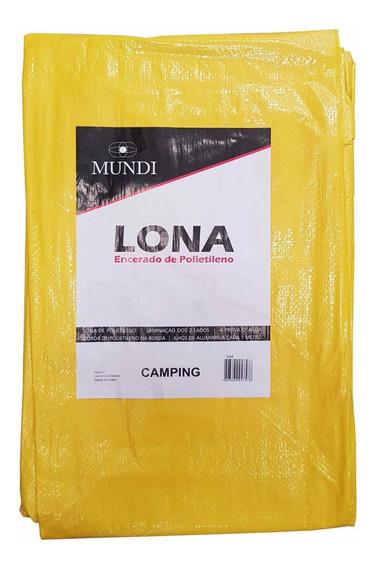 Lona Polietileno Amarela 4x4m Mundi