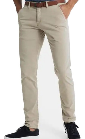 Pantalón Chino De Gabardina Elastizada Be Yourself Tiendas