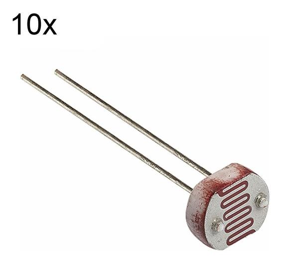 10 Peças De Ldr 5mm Fotoresistor Pic Arduino Sensor De Luz