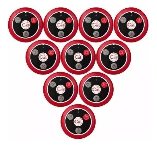 10 - Campainhas Chama Garçon Chamador 4 Botões P/ Atendiment