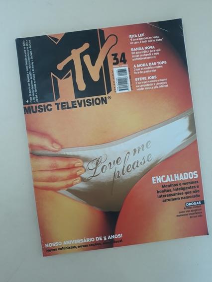 Revista Mtv 34 Rita Lee Preta Gil Bon Jovi Luciana Curtis
