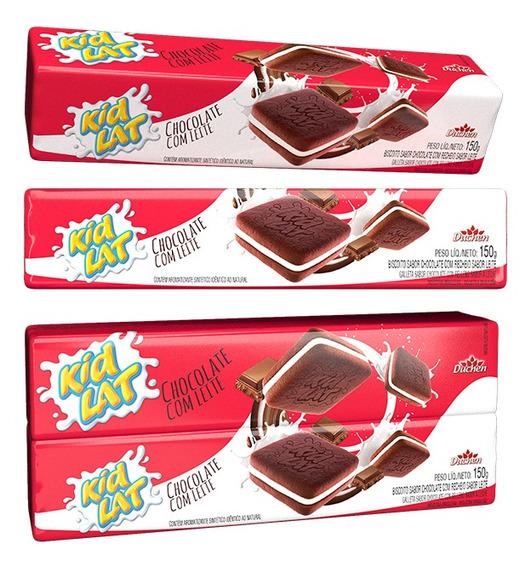 Biscoito Kidlat Atacado 5 Pacotes Sabor Chocolate Com Leite