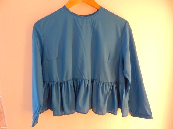 Camisa Blackrose De Seda Con Frunce