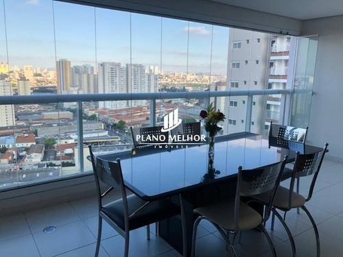 Imagem 1 de 30 de Apartamento À Venda No Tatuapé - Parque São Jorge Com 3 Dormitórios, Sendo 1 Suítes Rico Em Detalhes E Planejados Com 3 Vagas E 160m² - Ap1475 - Ap1475