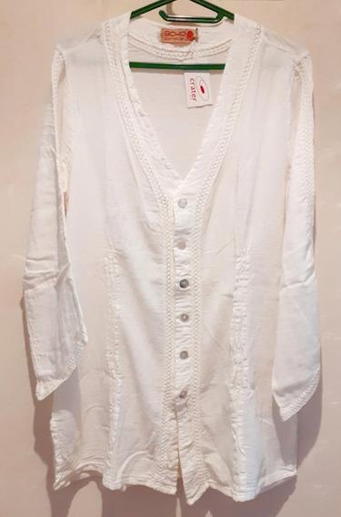 Camisa Para Mujer En Algodón Blanco.