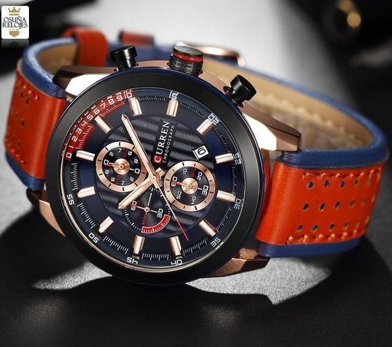 Relógio Masculino De Luxo Curren Original 100% Funcional